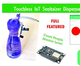 DIY Arduino| Touch-less IoT Hand Sanitizer Dispenser Using NodeMCU & BLYNK