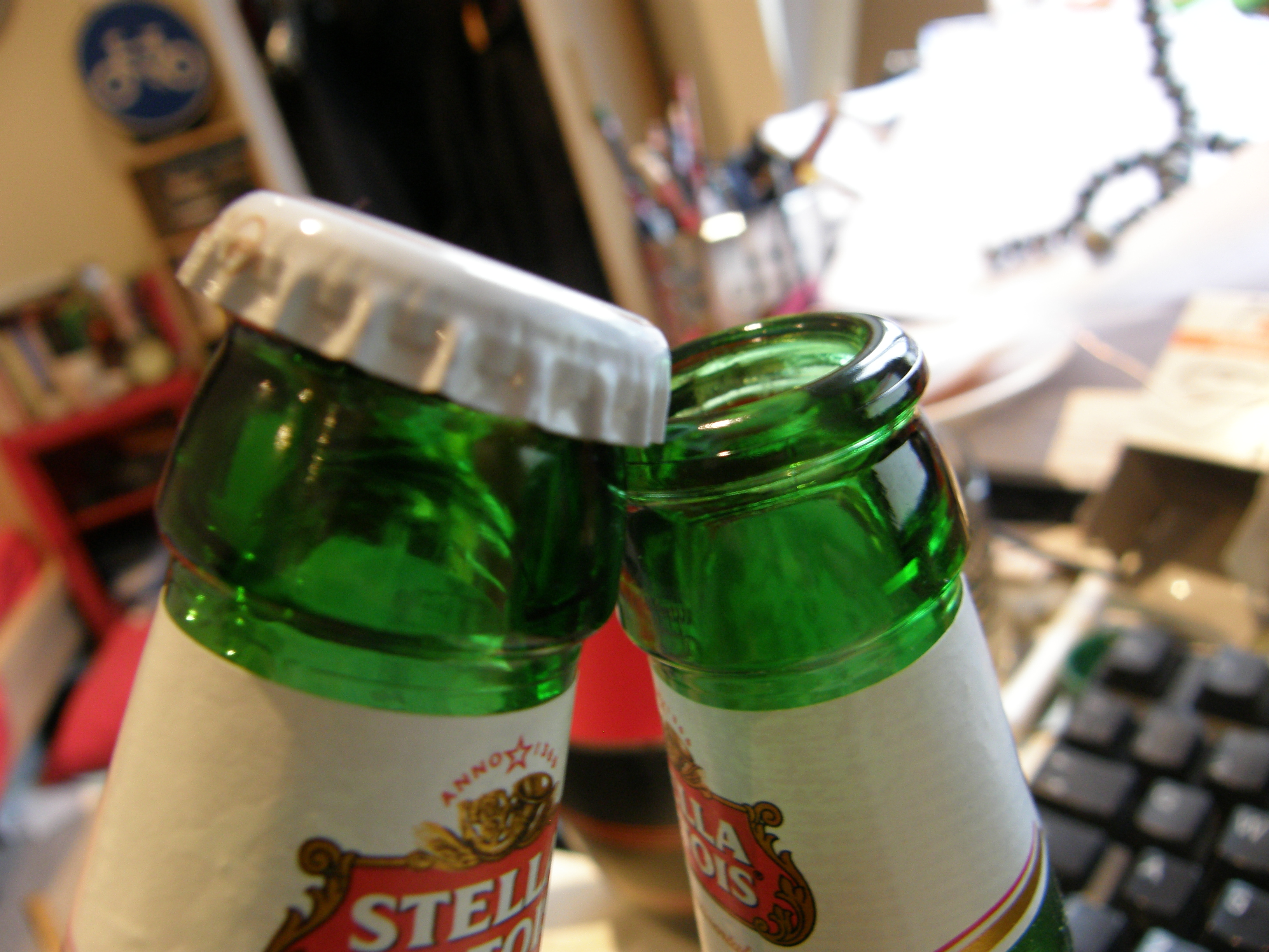 Opening that beer, many a way...