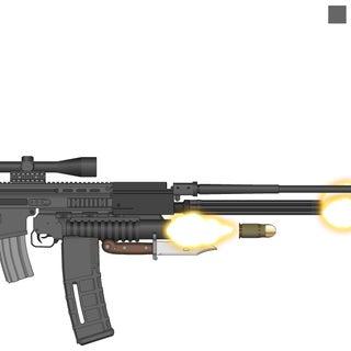 Sniper rifle granade launcher and Scar-H.jpg