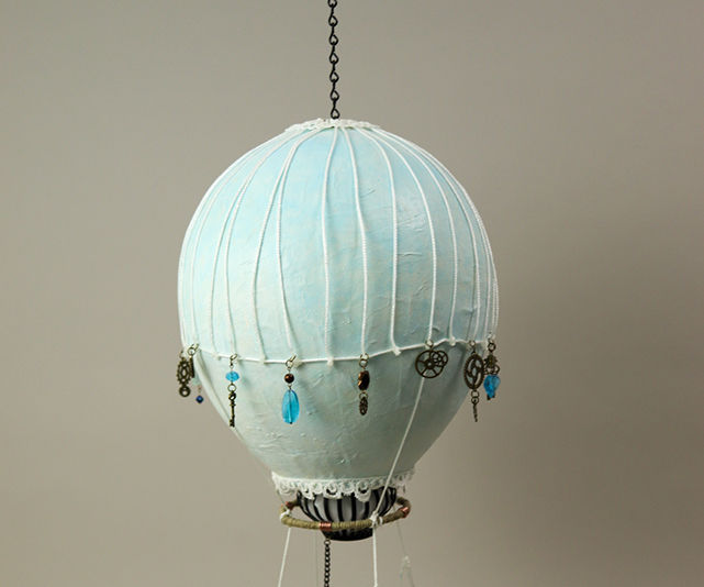 Hanging Hot Air Balloon Sculpture