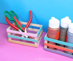 Diy Easy Desk Organizer Making