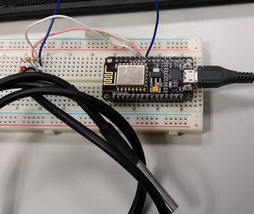 Programming ESP8266 ESP-12E NodeMCU V1.0 With Arduino IDE Into Wireless Temperature Logger