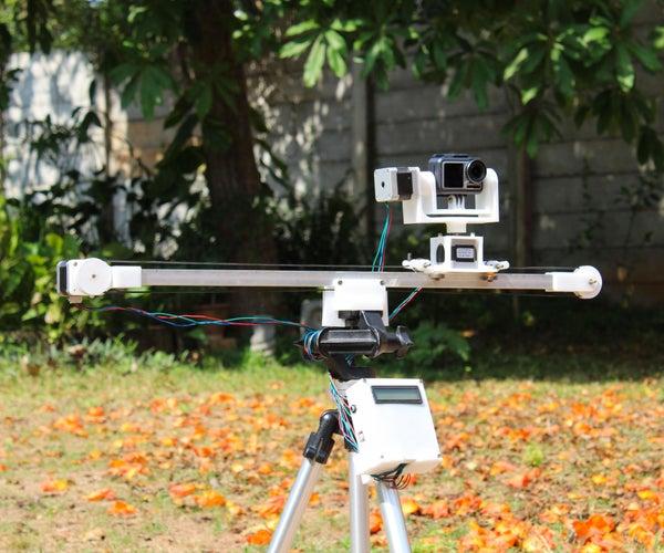自动Arduino电动相机滑块,具有平移和倾斜功能