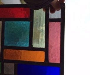 Stained Glass Cubism Panel