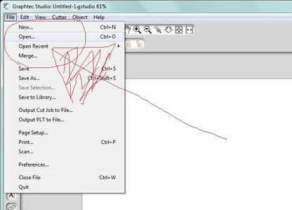 Transferring Your Traced Image to Graphtec Studio