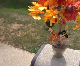 How to Create a Fall Maple Tree From Dollar Tree Items!