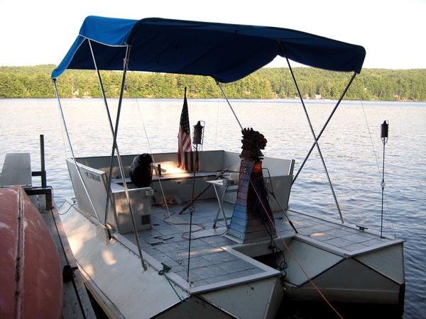 Incredible Soda Bottle Pontoon Boat