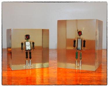 Junkbot in Resin