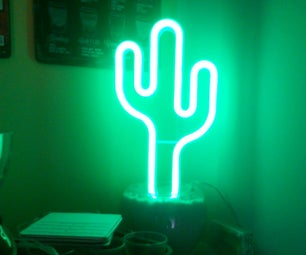 €12 Led Cactus (neon Room Decoration)