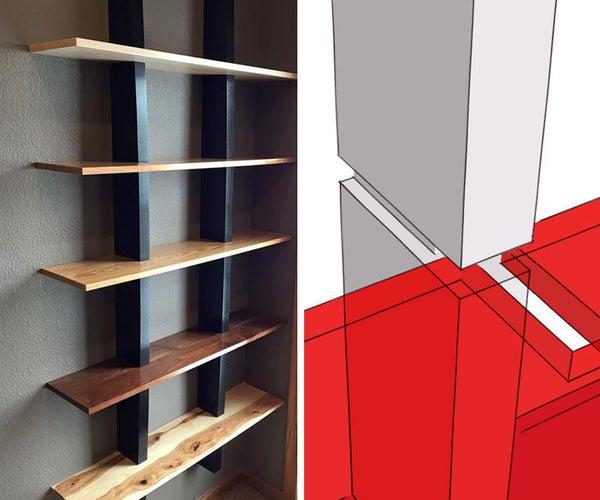 Multi-Species &Textured Gesso Shelves (No Visible Hardware)