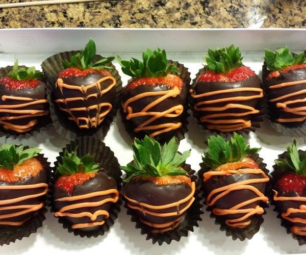 Healthy Dark Chocolate Covered Strawberry