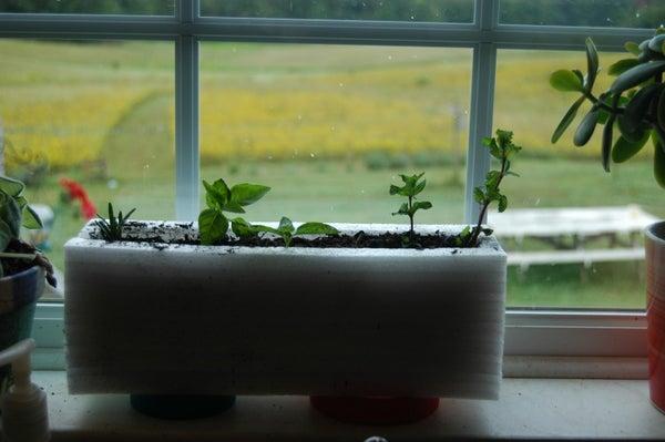How to Make a Laptop Box Styrofoam Herb Planter