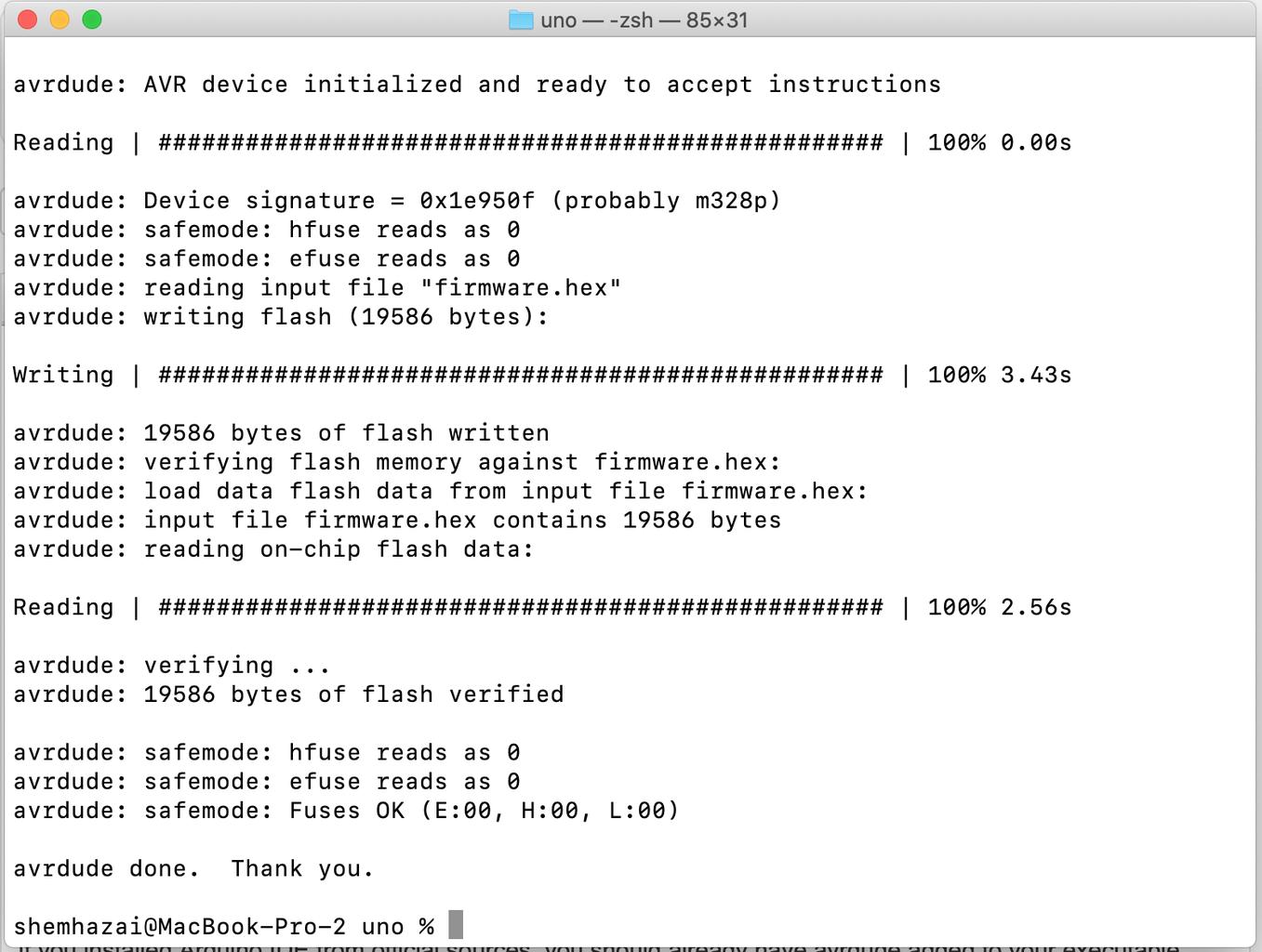 Upload Arduino Program