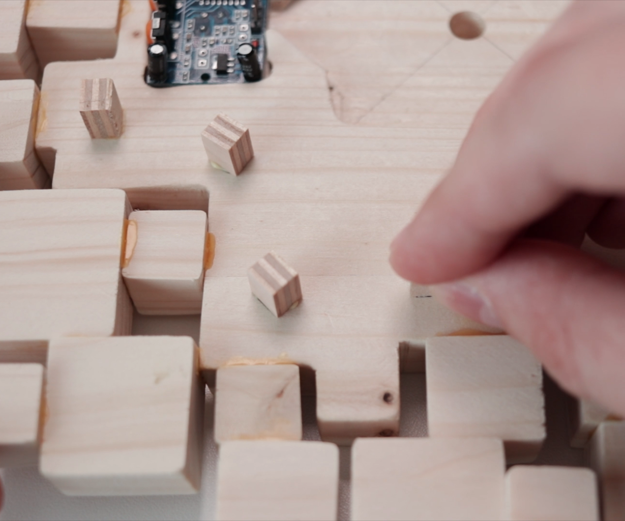 Cutting and Gluing Small Blocks for the Leds