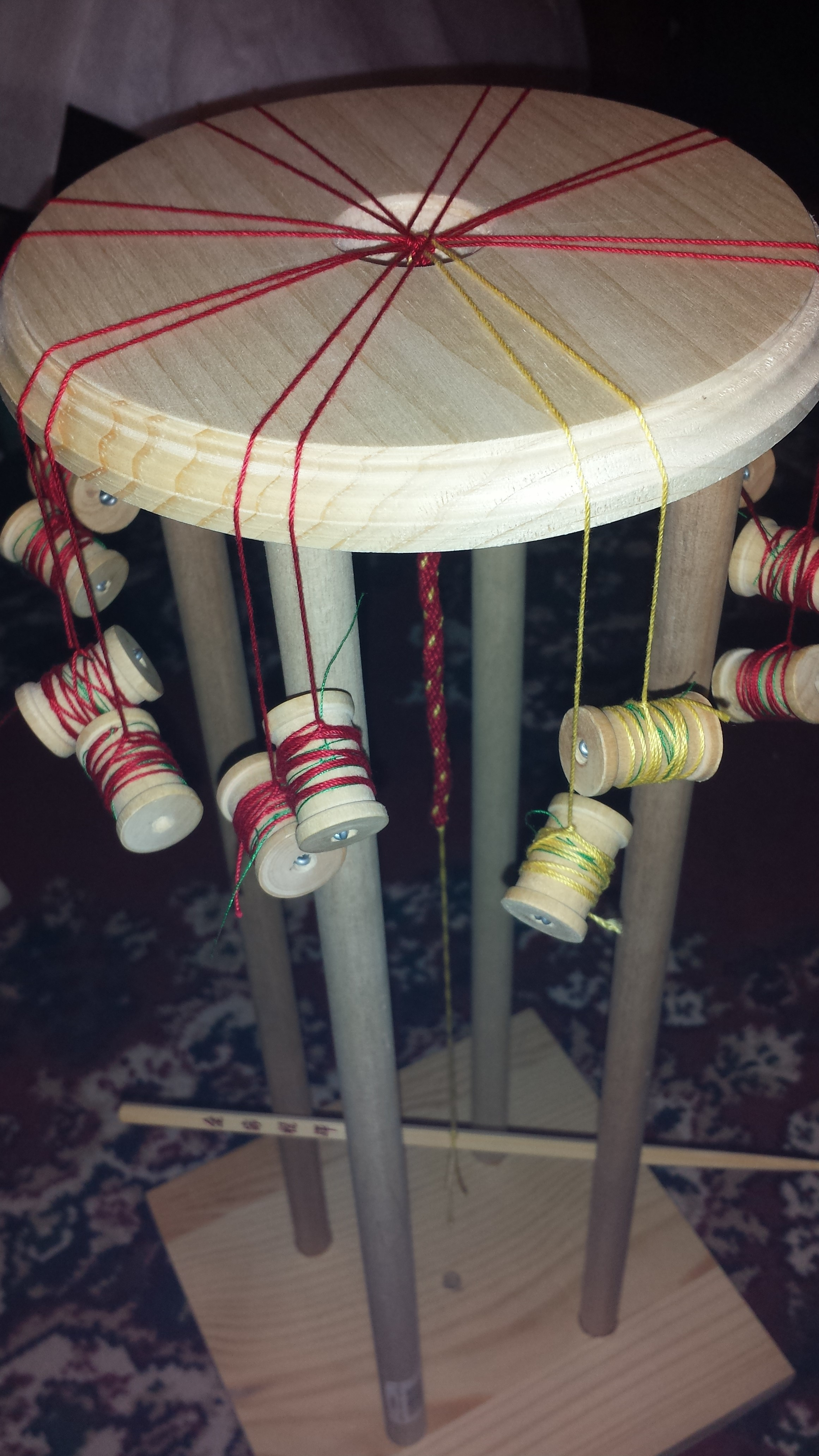 Quick, Sturdy Wooden Marudai (for Japanese Kumihimo Cord Braiding)