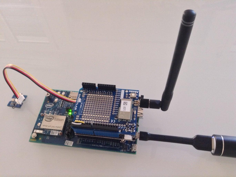 Simple As Sending IoT Sensor Values Through SigFox and Intel Edison, Using Python