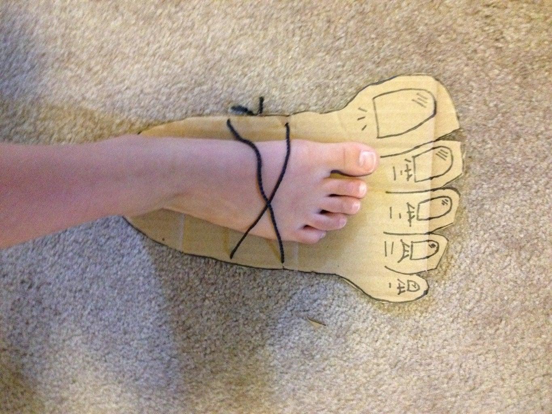 Children's Stomp Monster Foot Craft