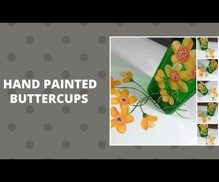 HAND PAINTED BUTTERCUPS