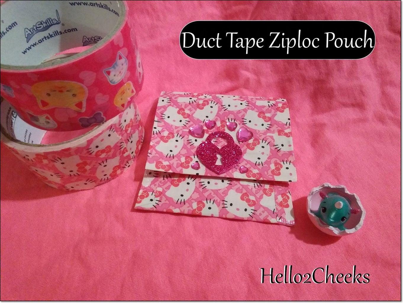 Duct Tape Ziploc Pouch