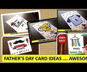 FATHER'S DAY CARD DRAWING EASY IDEAS - TOP 10