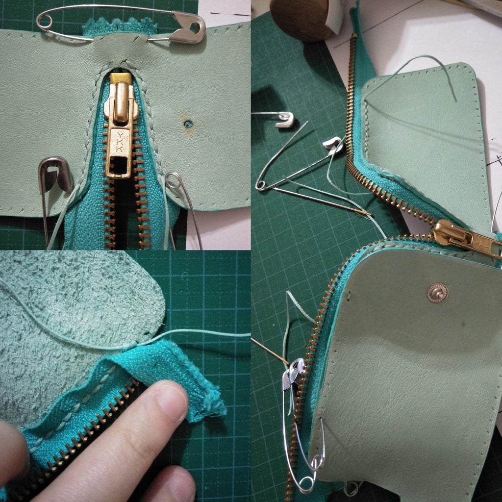 Stitching the Rest of the Zipper