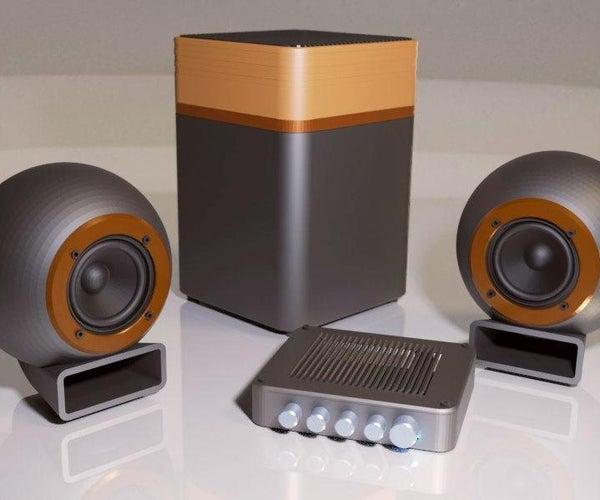 2.1蓝牙声音系统 - 完全可打印