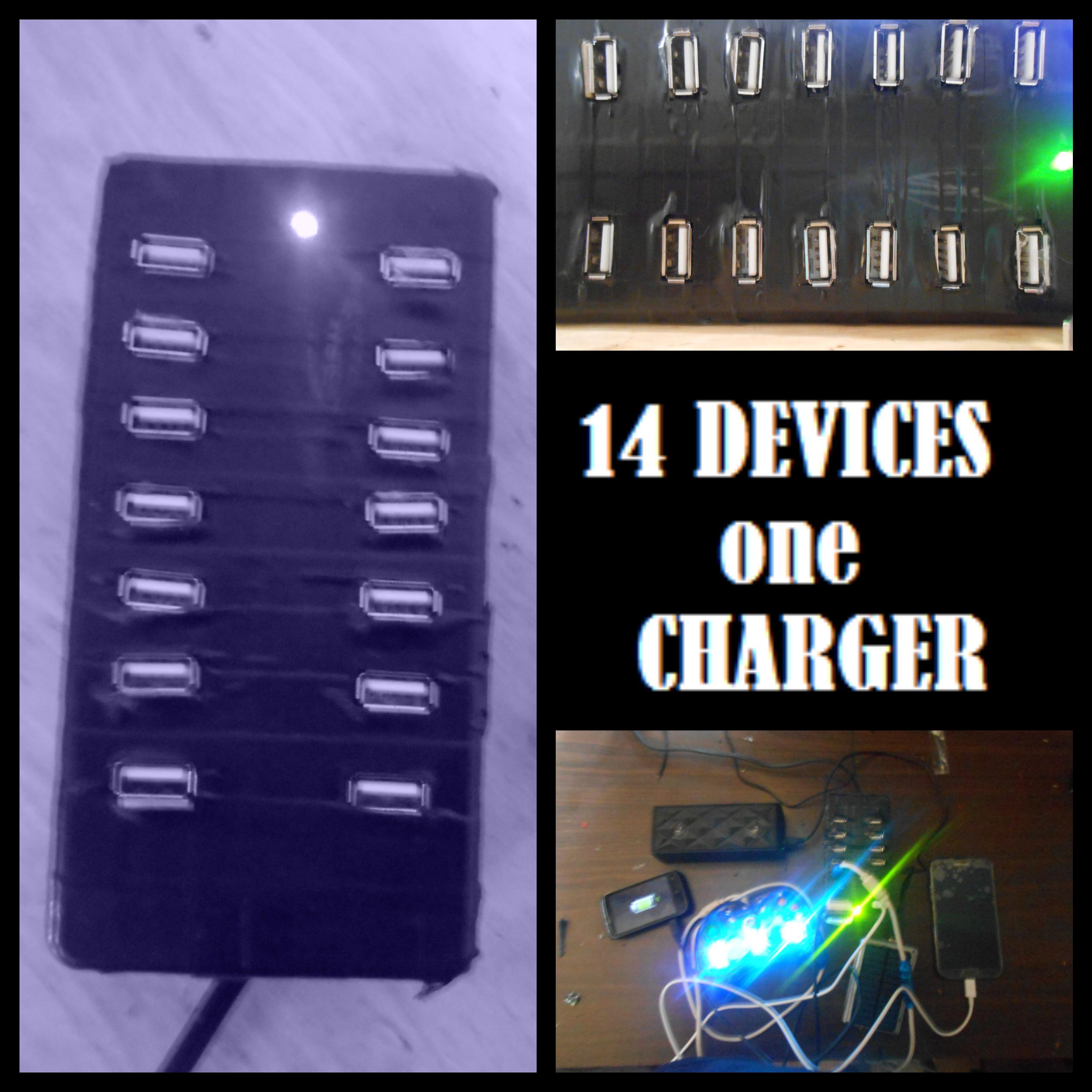 14x USB charging hub!