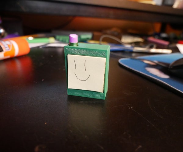 Tiny 3D Printed Notepad With Pencil Holder!