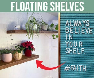 Believe in Your Shelf: Floating Plywood Shelves