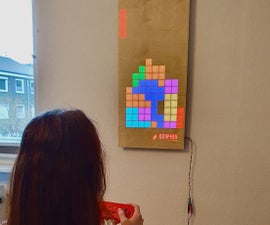 Wooden LED Gaming Display Powered by Raspberry Pi Zero