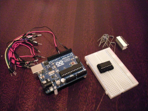 8 LED Chaser With 74HC595 8 Bit Shift Register