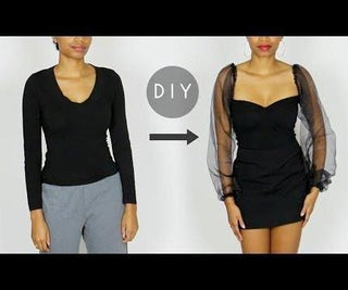 DIY Sheer Puff Sleeves Sweetheart Top (Easy Sewing!)
