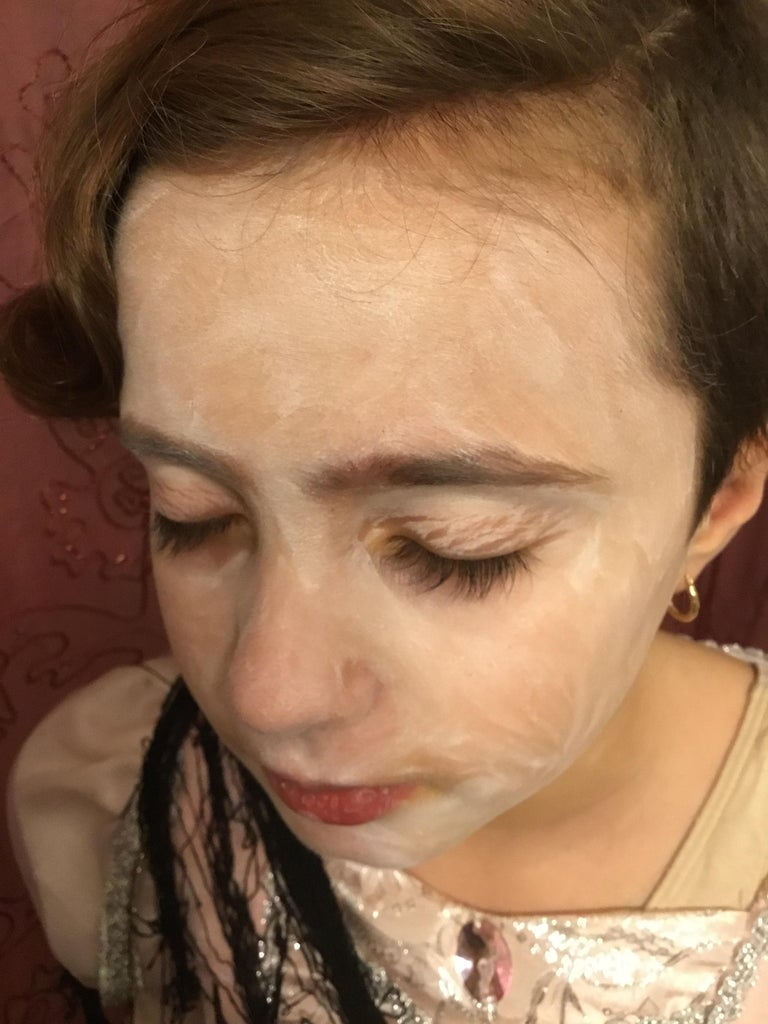 Apply White Makeup All Over Your Face