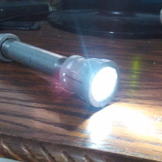 Gas Pipe Flashlight