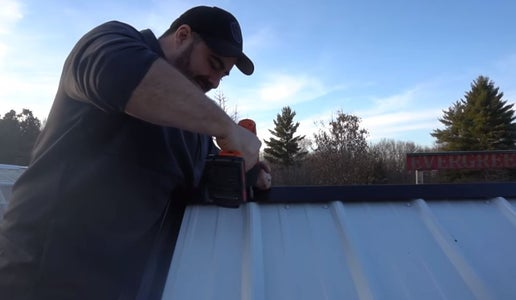 Fix the Trim at the Top of the Roof.