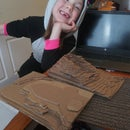 Cardboard 3D Topography: Favorite Places Project