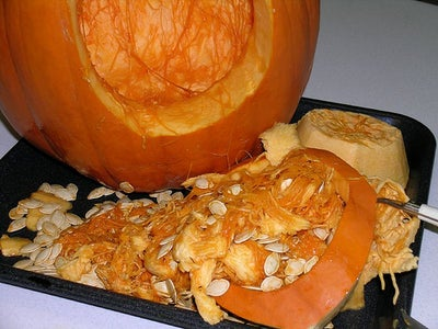 Carve and Gut the Pumpkin