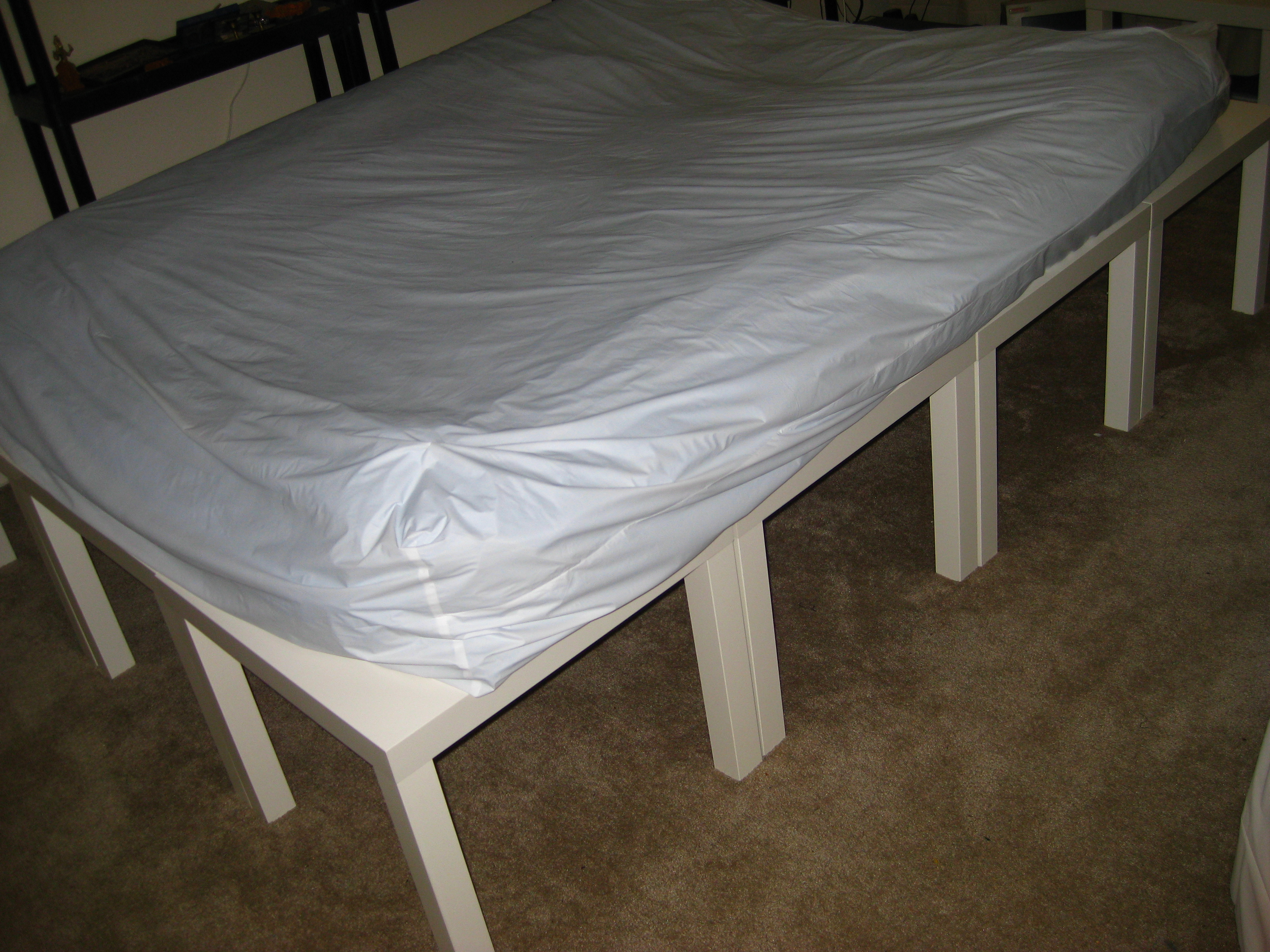 DIY Mattress Substitute - Out-Of-The-Box, Portable, Lightweight, Inexpensive, Machine-Washable