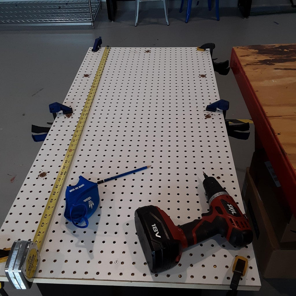 Making the Frame for the Pegboard