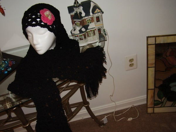 Crochet Hat/Scarf Venture for the LionBrand Challenge
