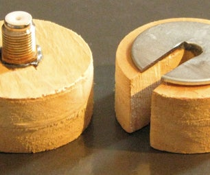 Homemade Wooden Coax Compression Fitting Tool
