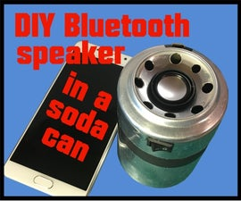 DIY Bluetooth Speaker in a Soda Can