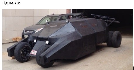The MacGyver Bat Tumbler (Make a Crime Fighting Vehicle Out of Junk and Readily Available Items.)