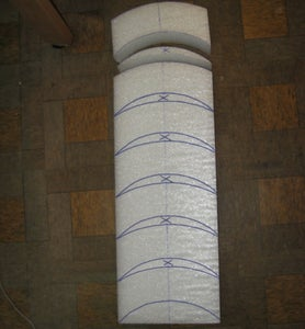 Cutting the Styrofoam