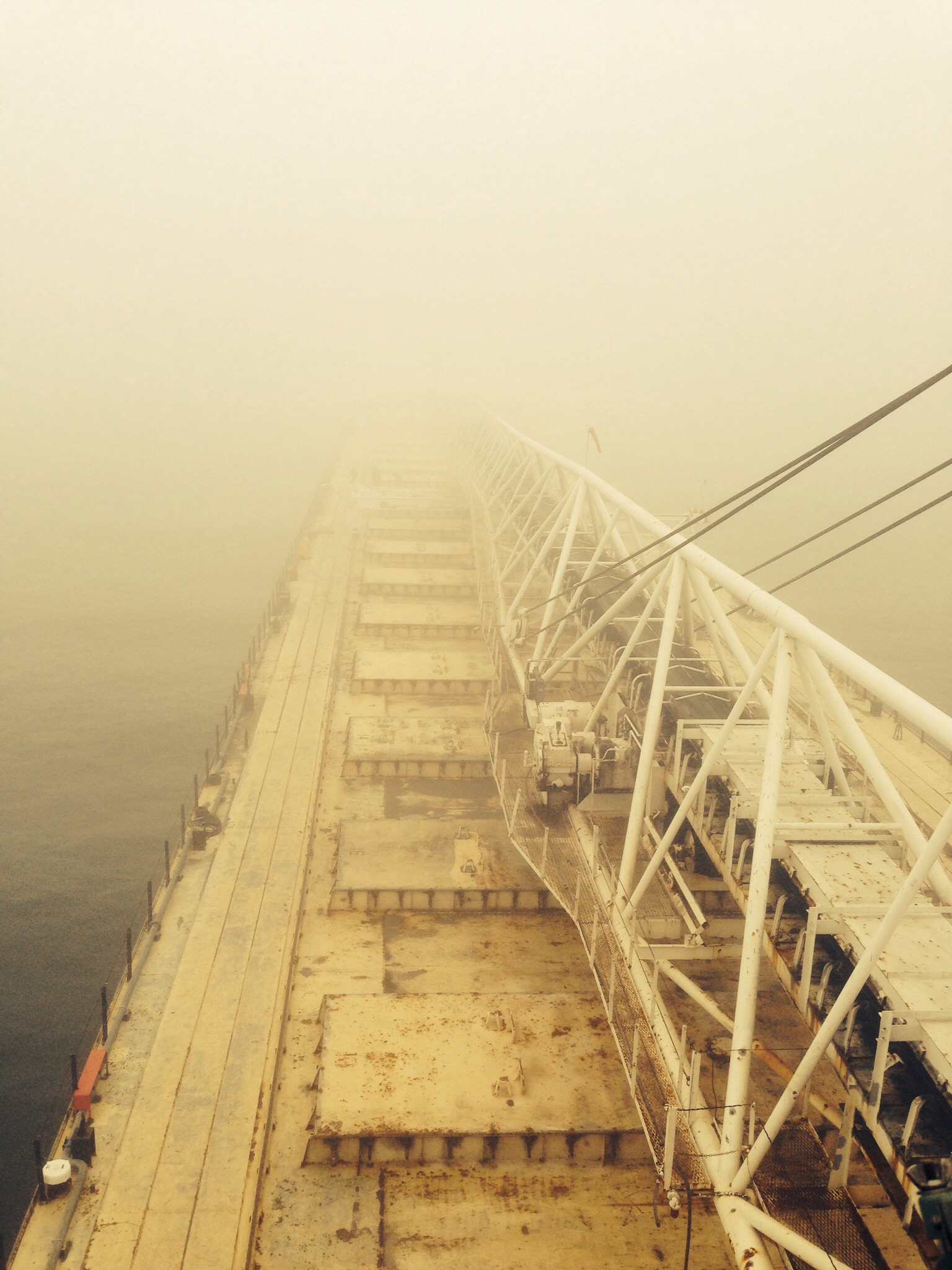 How To Dock A 630' Great Lakes Freighter In Black Out Fog