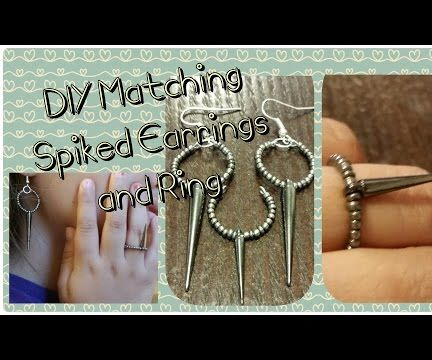 Matching Spiked Earrings and Ring Set