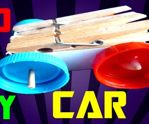 How to Make a Rubber Band Car Toy!