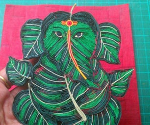 Quilled Lord Ganesha