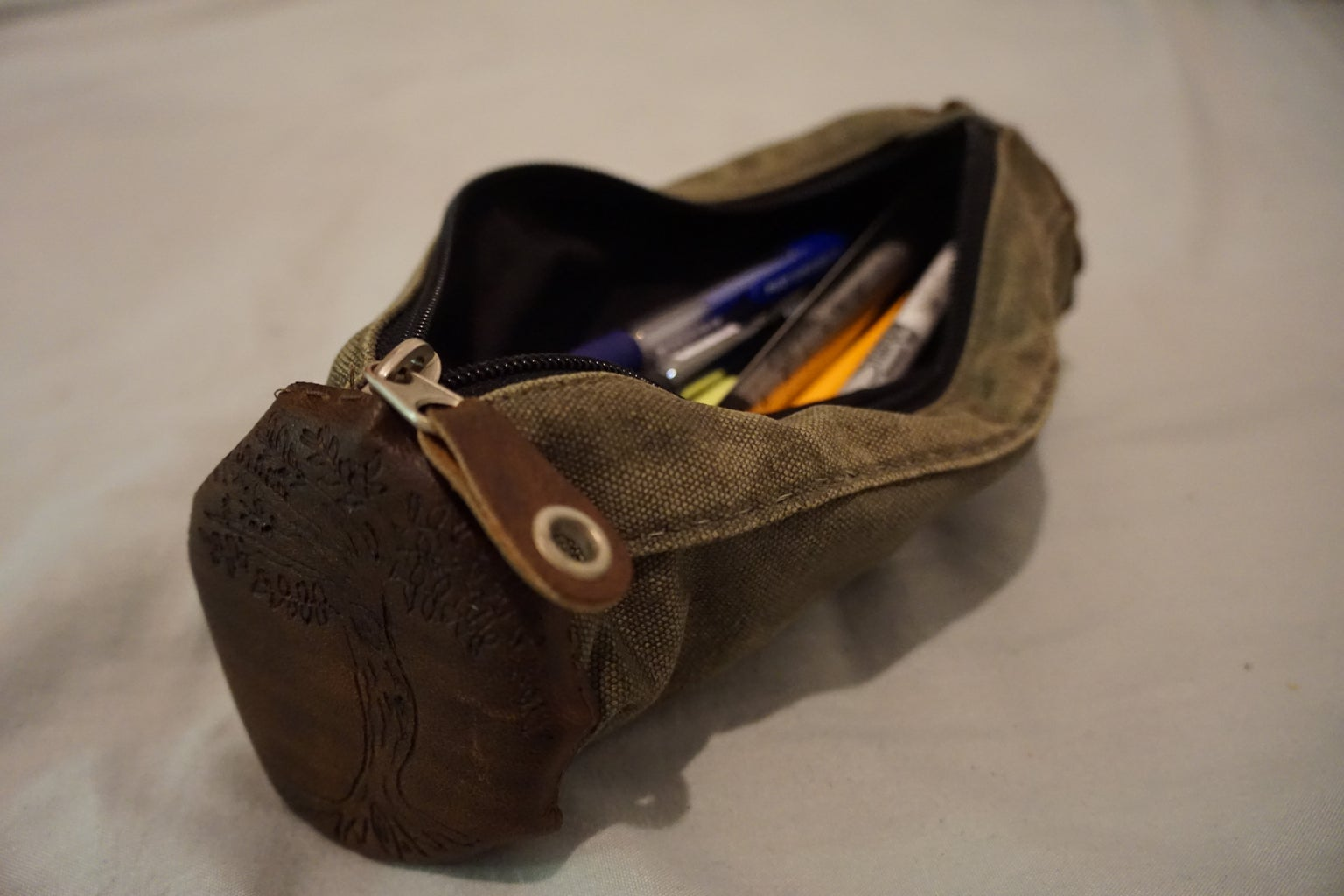 Upcycle an Old Bag to a Leather Infused Pencil Case