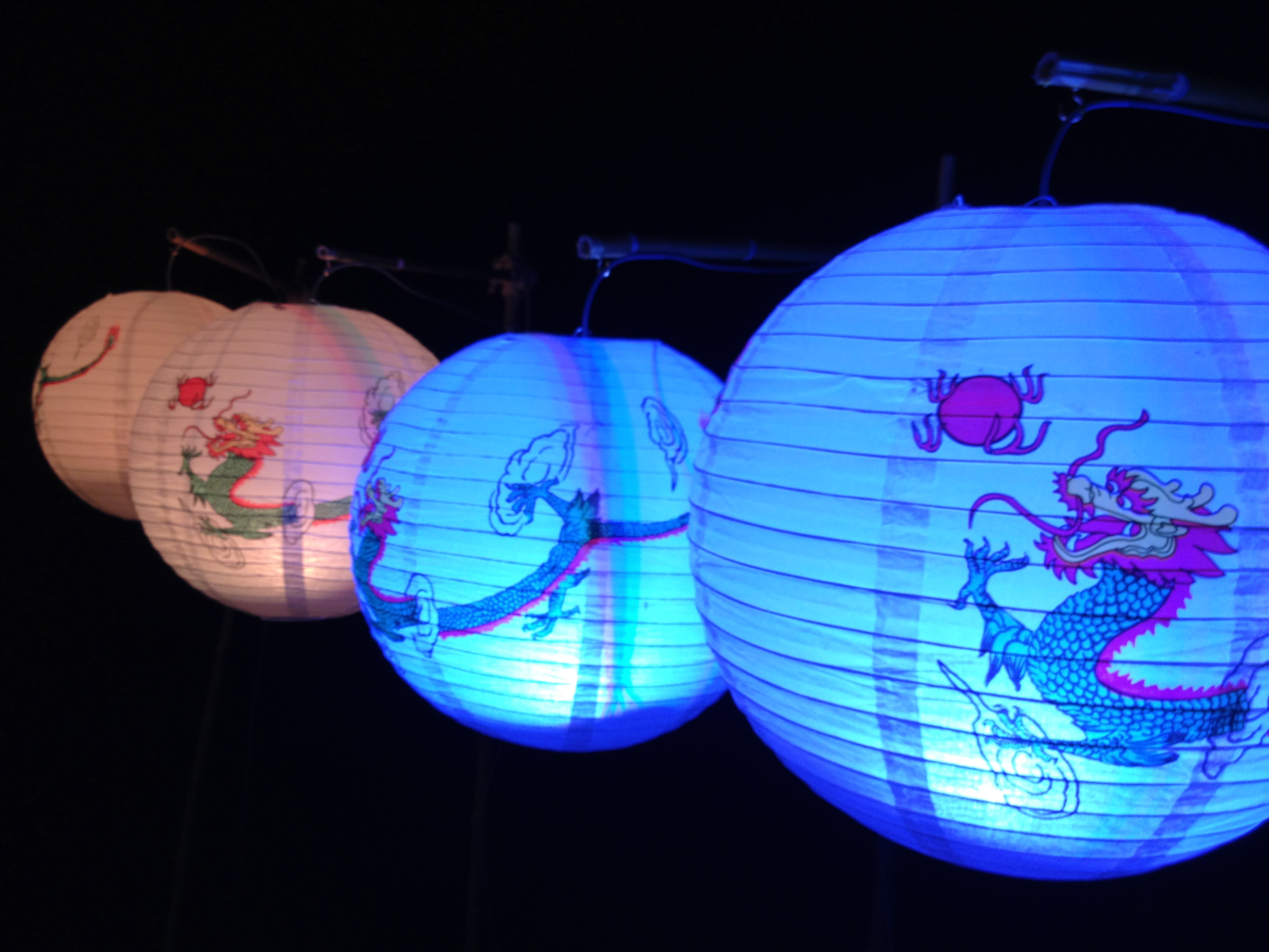 The 10W RGB Color Fading Chinese Lantern